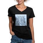 kennedy quote Women's V-Neck Dark T-Shirt