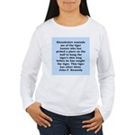 kennedy quote Women's Long Sleeve T-Shirt