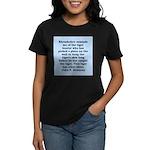 kennedy quote Women's Dark T-Shirt