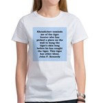 kennedy quote Women's T-Shirt