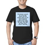 kennedy quote Men's Fitted T-Shirt (dark)