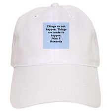 john f kennedy quote Baseball Cap