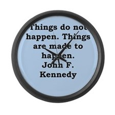 john f kennedy quote Large Wall Clock