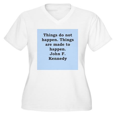 john f kennedy quote Women's Plus Size V-Neck T-Sh