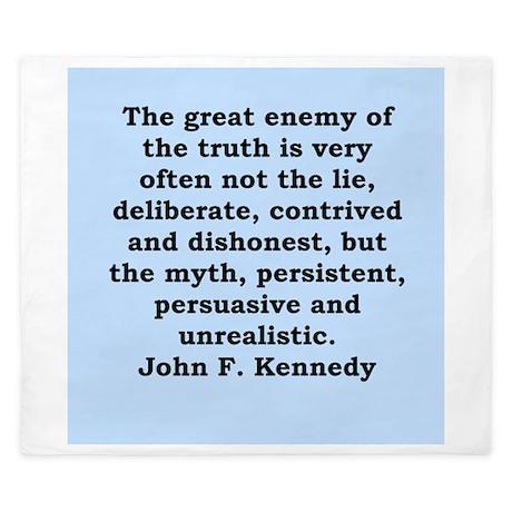 john f kennedy quote King Duvet