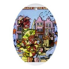Philadelphia Mummers Parade Ornament (Oval)