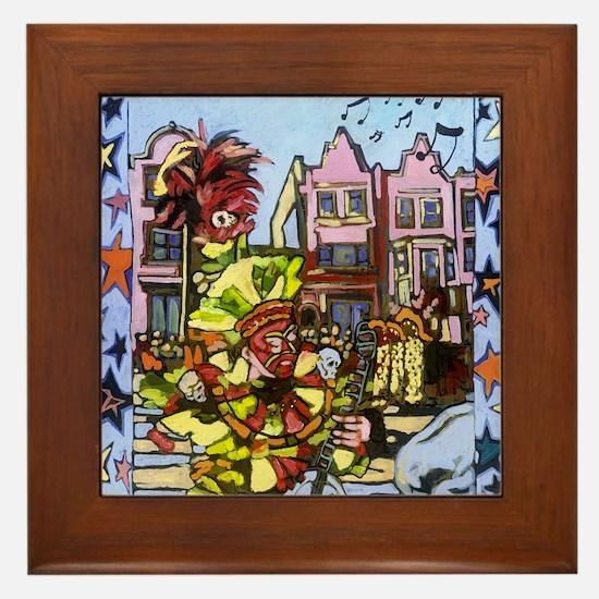 Philadelphia Mummers Parade Framed Tile