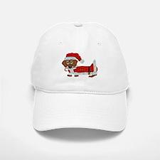 Dachshund Candy Cane Santa Baseball Baseball Cap
