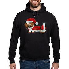 Dachshund Candy Cane Santa Hoodie