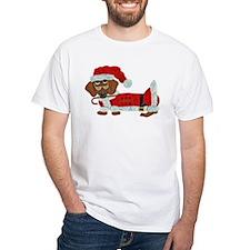 Dachshund Candy Cane Santa Shirt
