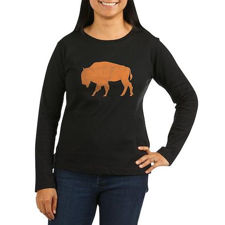 Bison Women's Long Sleeve Dark T-Shirt