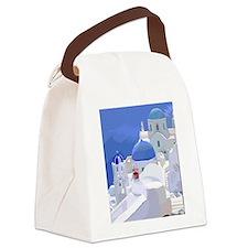 Greece Canvas Lunch Bag