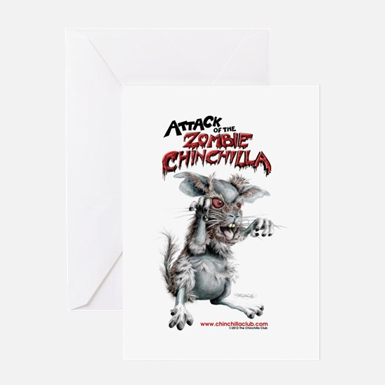 Attack of the Zombie Chinchilla Greeting Card