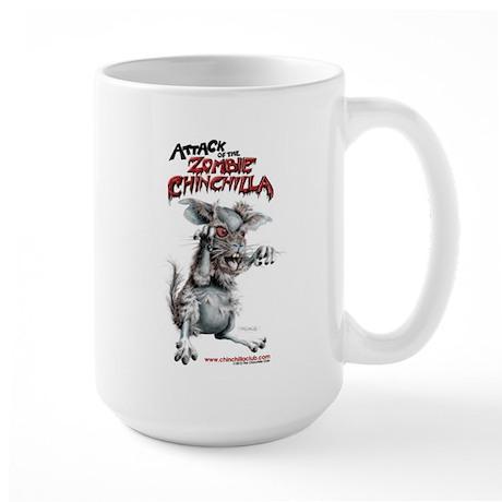 Attack of the Zombie Chinchilla Large Mug