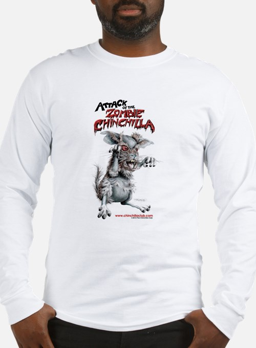 Attack of the Zombie Chinchilla Long Sleeve T-Shir