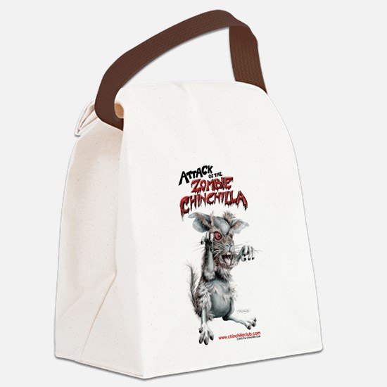 Attack of the Zombie Chinchilla Canvas Lunch Bag