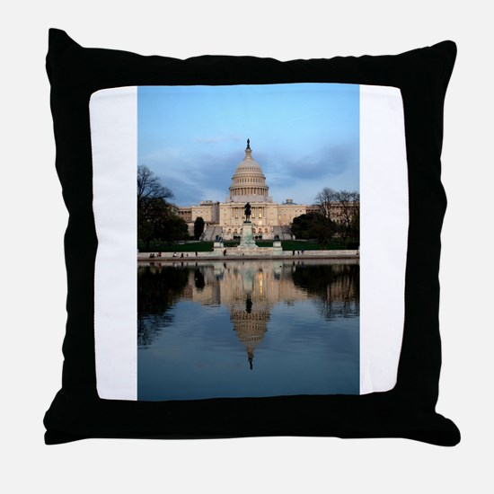 U.S. Capitol Building with Reflection Throw Pillow
