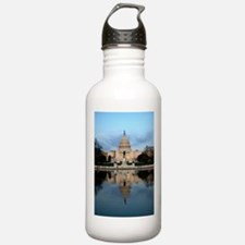 U.S. Capitol Building with Reflection Water Bottle