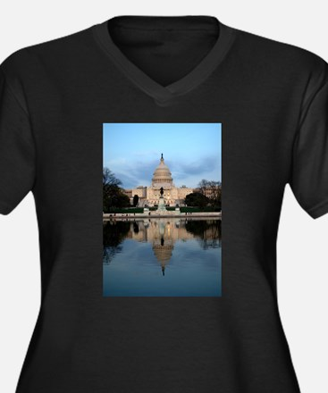 U.S. Capitol Building with Reflection Women's Plus