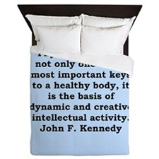 john f kennedy quote Queen Duvet