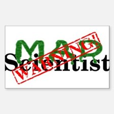 Warning! Mad Scientist Decal