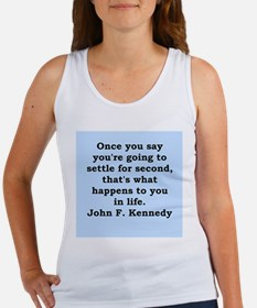 john f kennedy quote Women's Tank Top