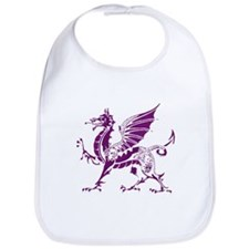 Purple And White Dragon Bib