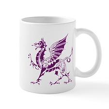 Purple And White Dragon Mug
