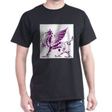 Purple And White Dragon T-Shirt