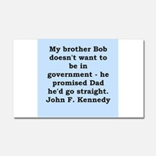 john f kennedy quote Car Magnet 20 x 12