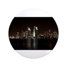 """San Diego Night Skyline 3.5"""" Button"""