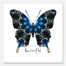 "Witness Butterfly Square Car Magnet 3"" x 3"""
