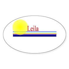 Leila Oval Decal
