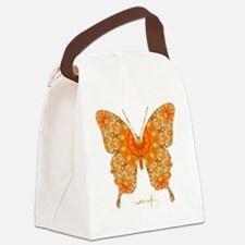 Jewel Butterfly Canvas Lunch Bag