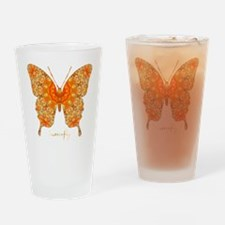 Jewel Butterfly Drinking Glass