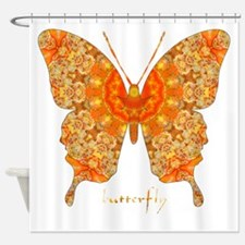 Jewel Butterfly Shower Curtain
