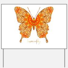 Jewel Butterfly Yard Sign