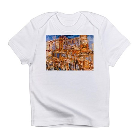 Philadelphia Genos CheeseSteak on 9th Infant T-Shi