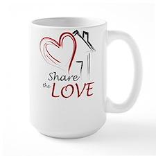 Share the Love Color Logo Mugs