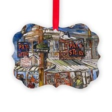 Philadelphia Pats CheeseSteak Ornament