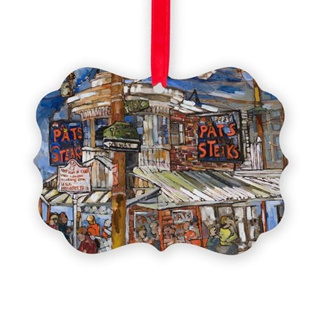 Philadelphia Pats CheeseSteak Picture Ornament