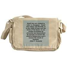 john f kennedy quote Messenger Bag