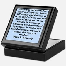 john f kennedy quote Keepsake Box