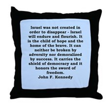 john f kennedy quote Throw Pillow