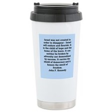 john f kennedy quote Travel Coffee Mug