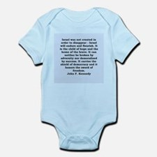 john f kennedy quote Infant Bodysuit