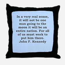 john f kennedy quote Throw Pillow