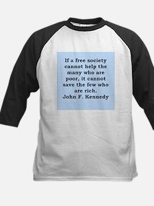 john f kennedy quote Kids Baseball Jersey