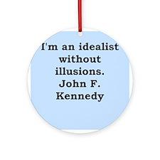john f kennedy quote Ornament (Round)