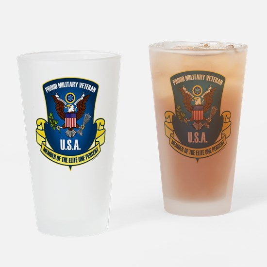 Elite One Percent Drinking Glass